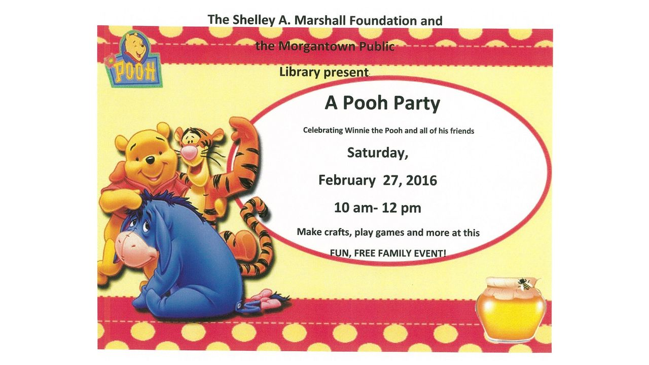 A Pooh Party At Morgantown Public Library
