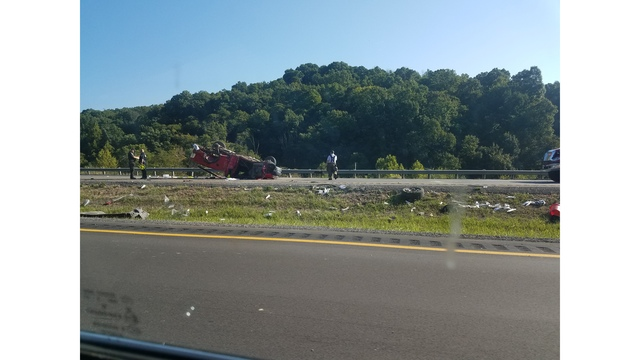 UPDATE: Emergency crews free man partially pinned under truck after I-79 rollover accident