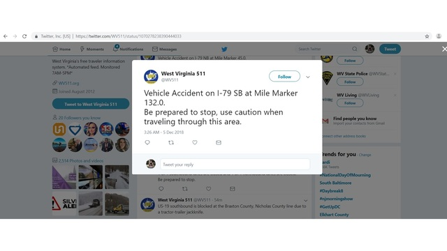 One person sent to UHC after an accident on I-79 in Marion Co., plus more accidents in the area